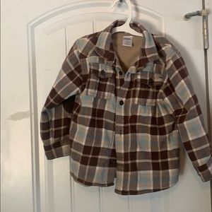 Gymboree flannel, lined with fleece on inside